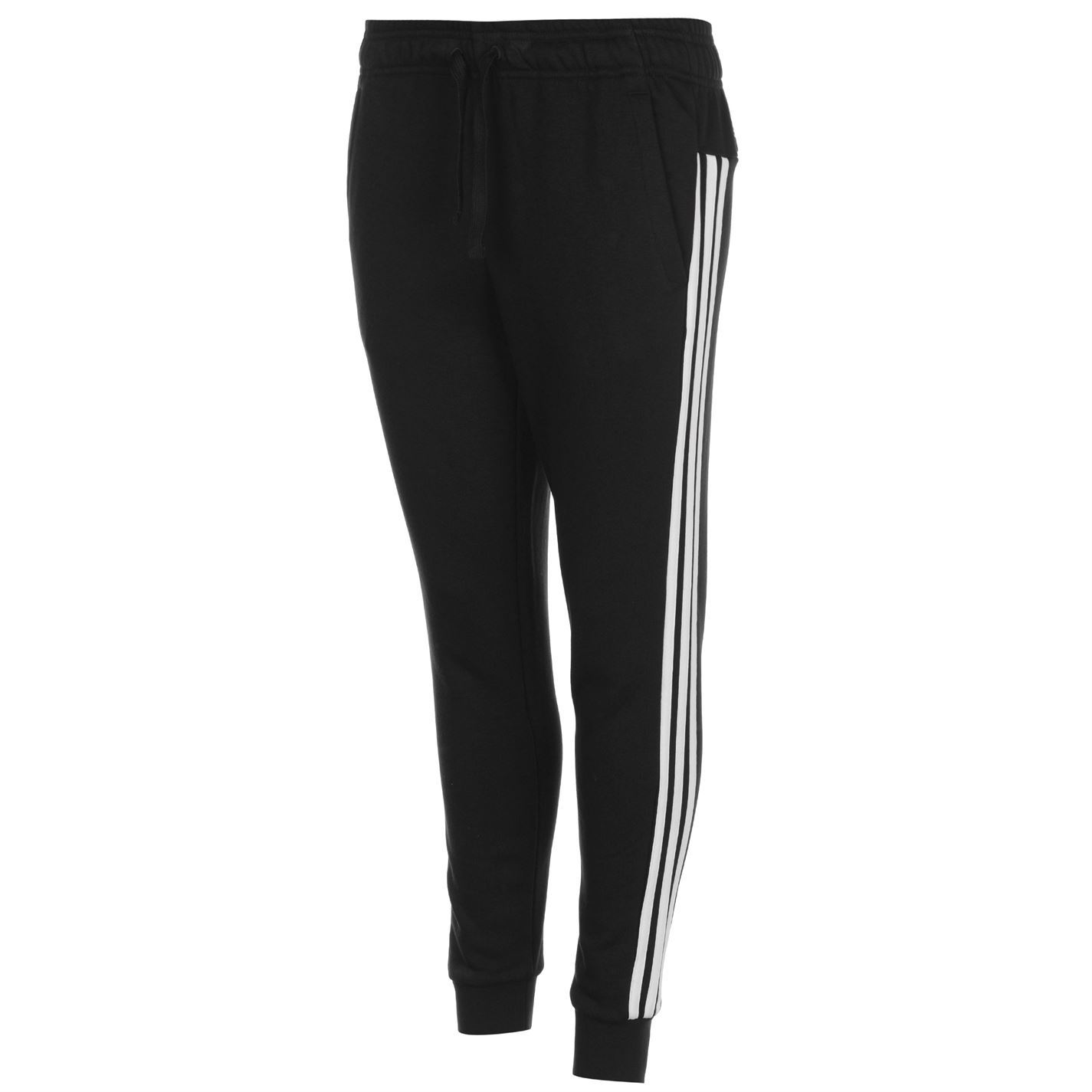 Vamp up your casual wardrobe in these adidas Essential 3 Stripe Closed Hem  Pants - designed with a jersey construction that offers warmth and comfort  ... fda643962daac