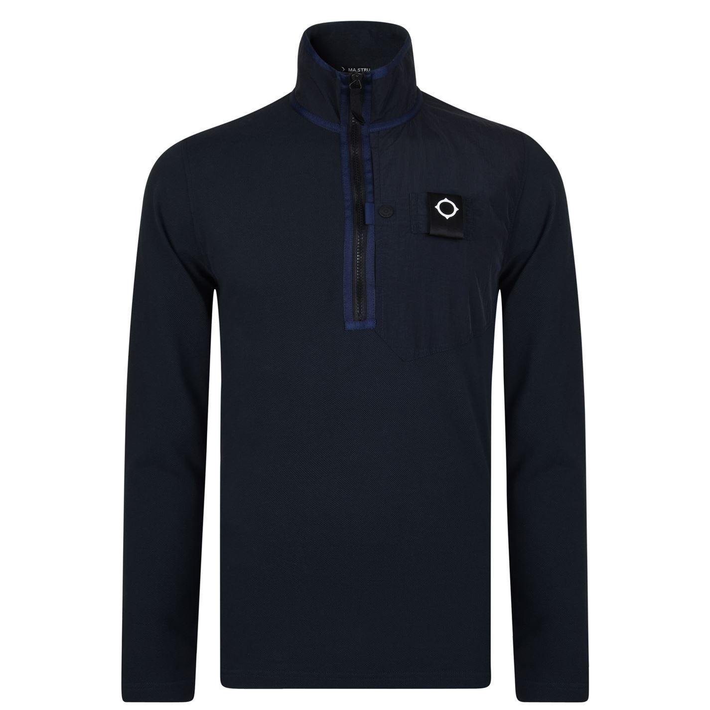 Herren Ma Strum Sweatshirt Zip Long Sleeved Sweatshirt Strum Quarter Fleece Top Sleeve New c09c9e