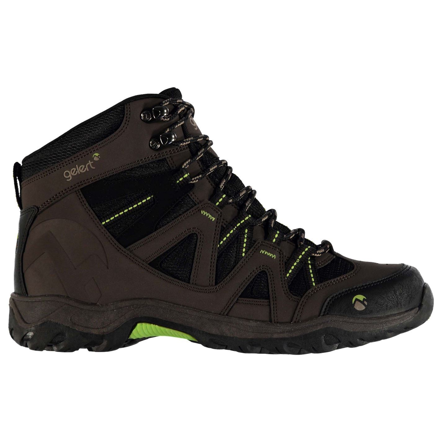 Mens Ottawa Mid Walking Boots Lace Up Padded Ankle Collar Outdoor Shoes