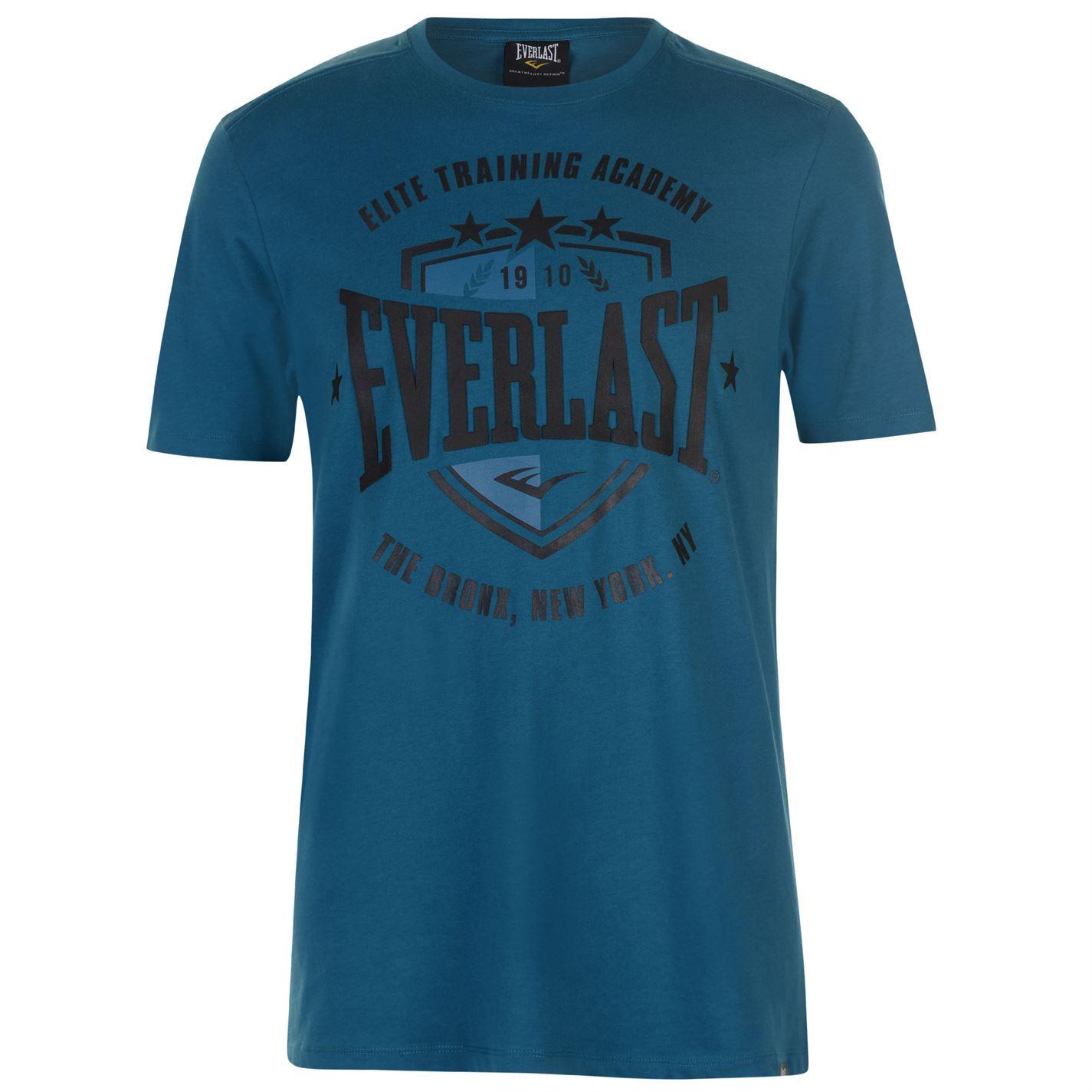 Everlast Mens Shield T Shirt Crew Neck Tee Top Short Sleeve Cotton Regular Fit