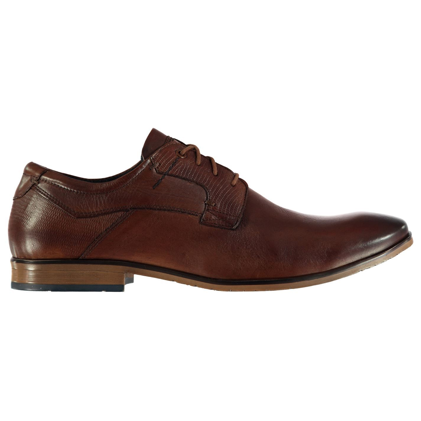 POD  Uomo Pattern Tie Schuhes Smart Lace Up Up Up Slight Heel TextuROT Panelling Tonal 7ed15c