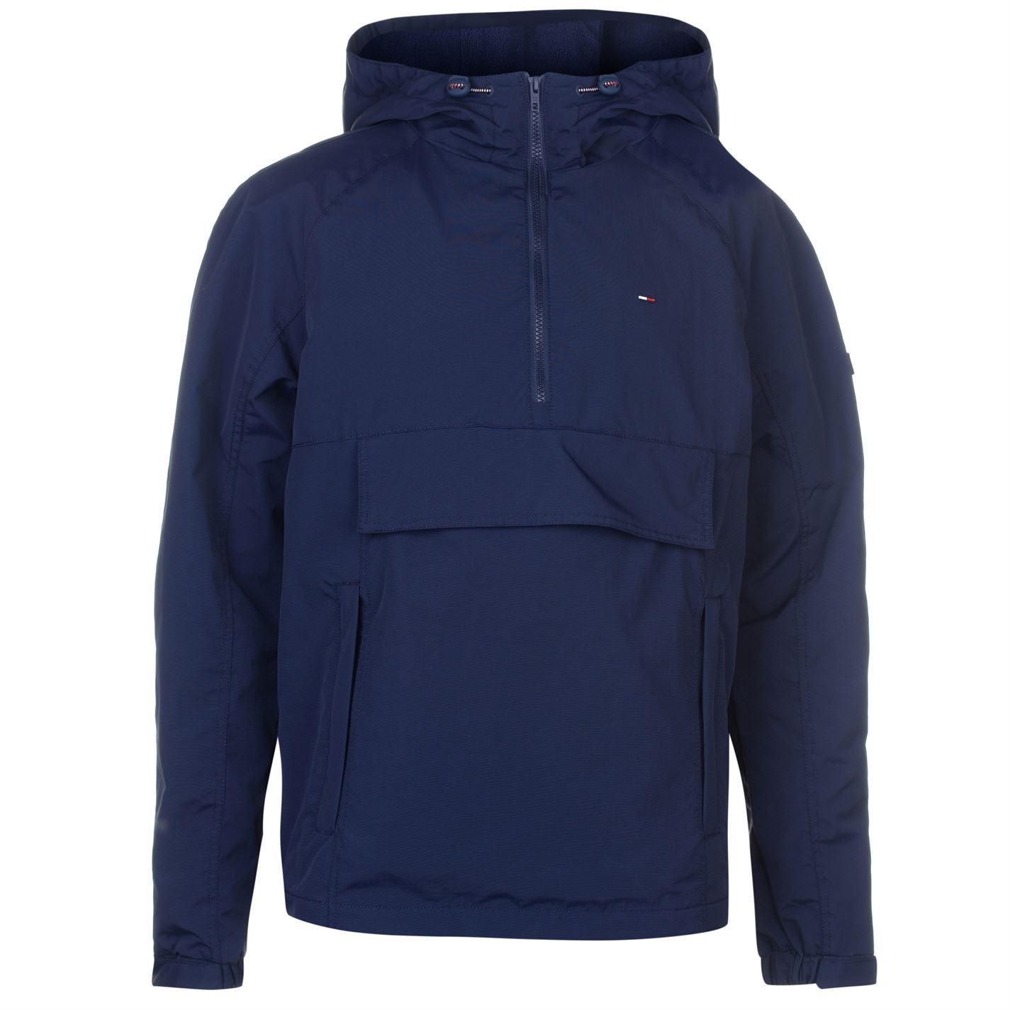 mens tommy jeans logo pull jacket padded hooded new ebay. Black Bedroom Furniture Sets. Home Design Ideas