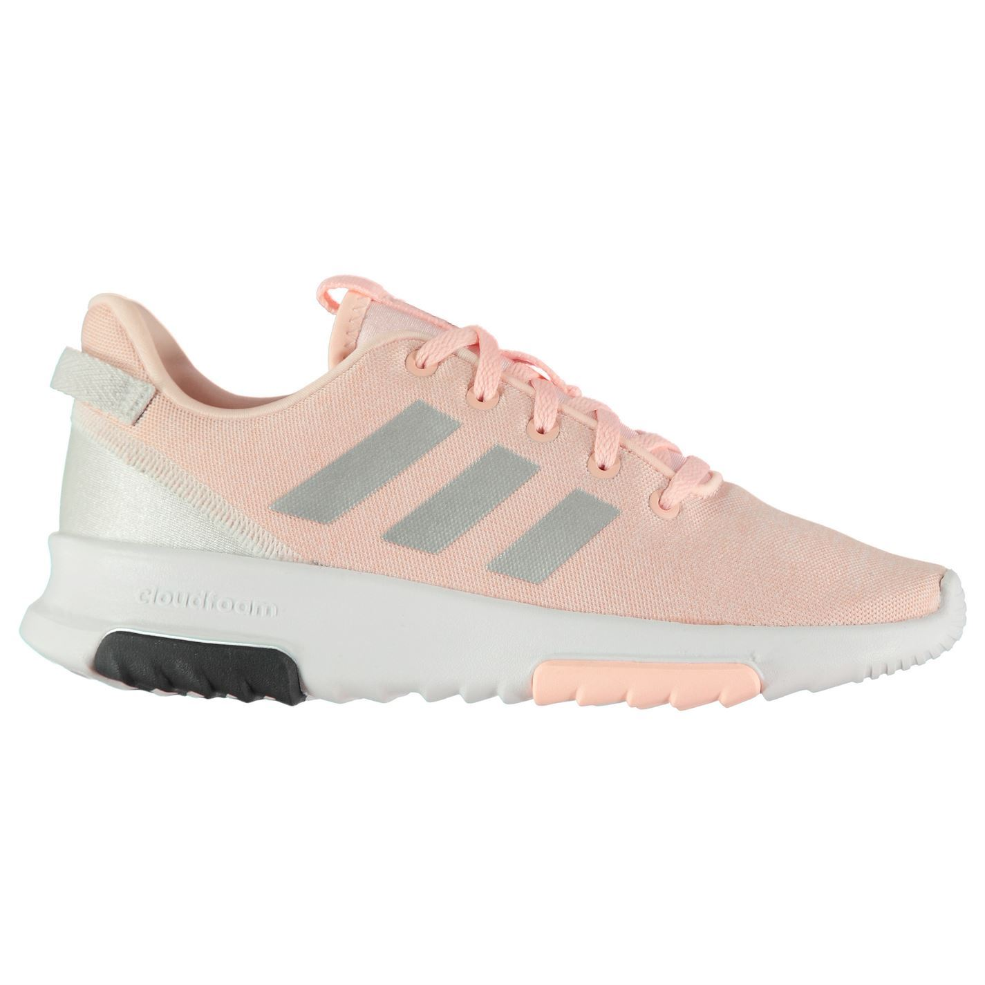 8cd07495ab6 adidas Kids Girls CF Racer TR Junior Trainers Runners Lace Up Casual ...