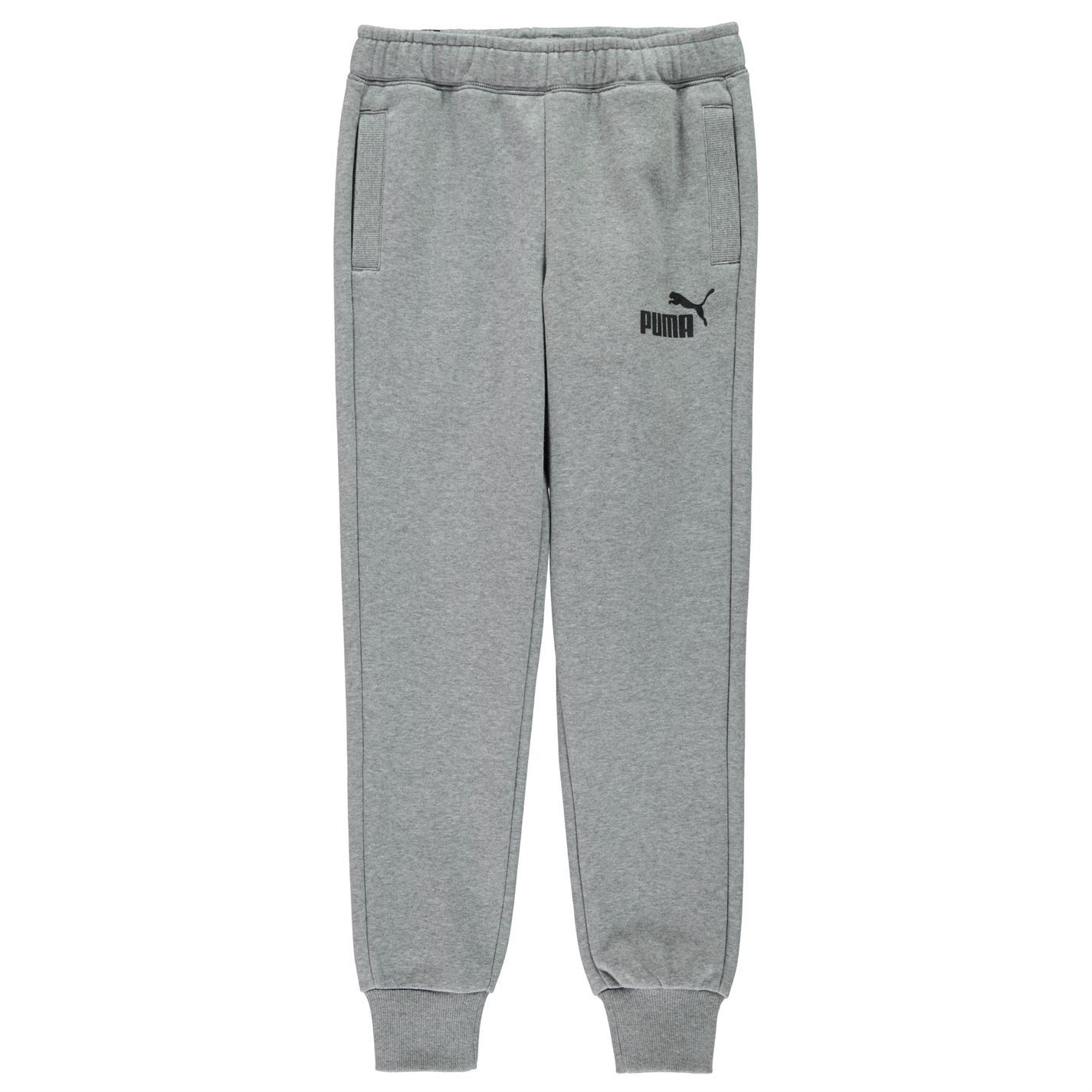 PUMA Boys Tapered Fleece Pants Childrens Running Clothing Grey 9 10