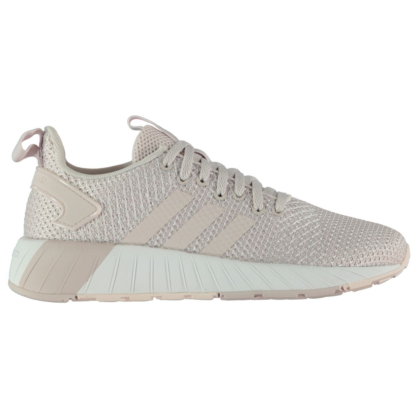 c9826567f27cbf adidas Womens Questar BYD Trainers Runners Lace Up Padded Ankle Collar  Stripe