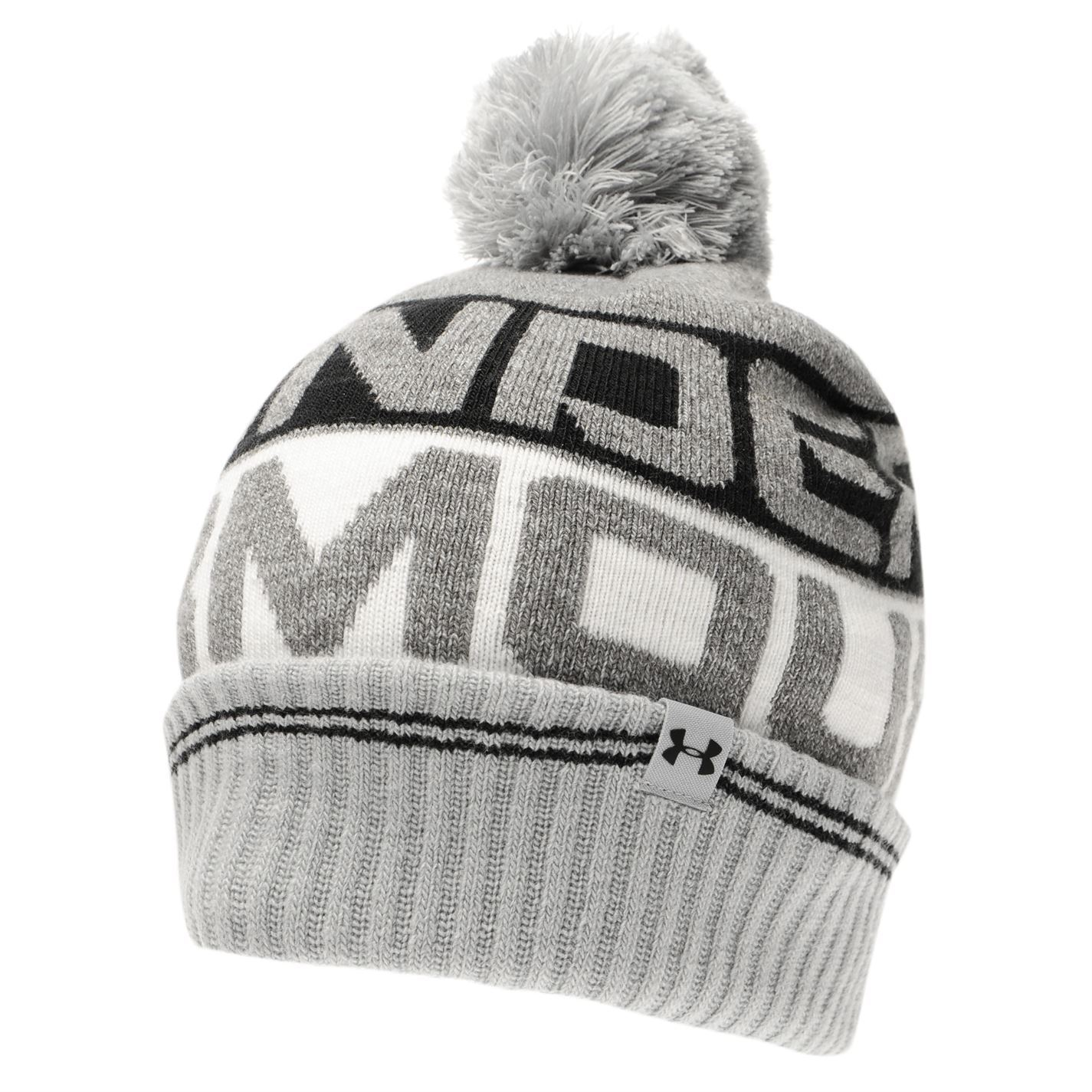 bbd8f52d0df The Mens Under Armour Retro Pompom Beanie is perfect for the cold winter  weather