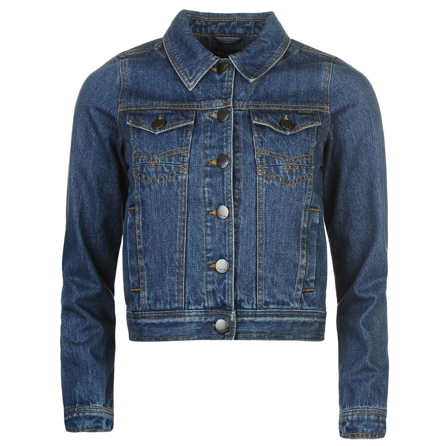 23083338d0f4f Details about Firetrap Womens Cropped Denim Jacket New