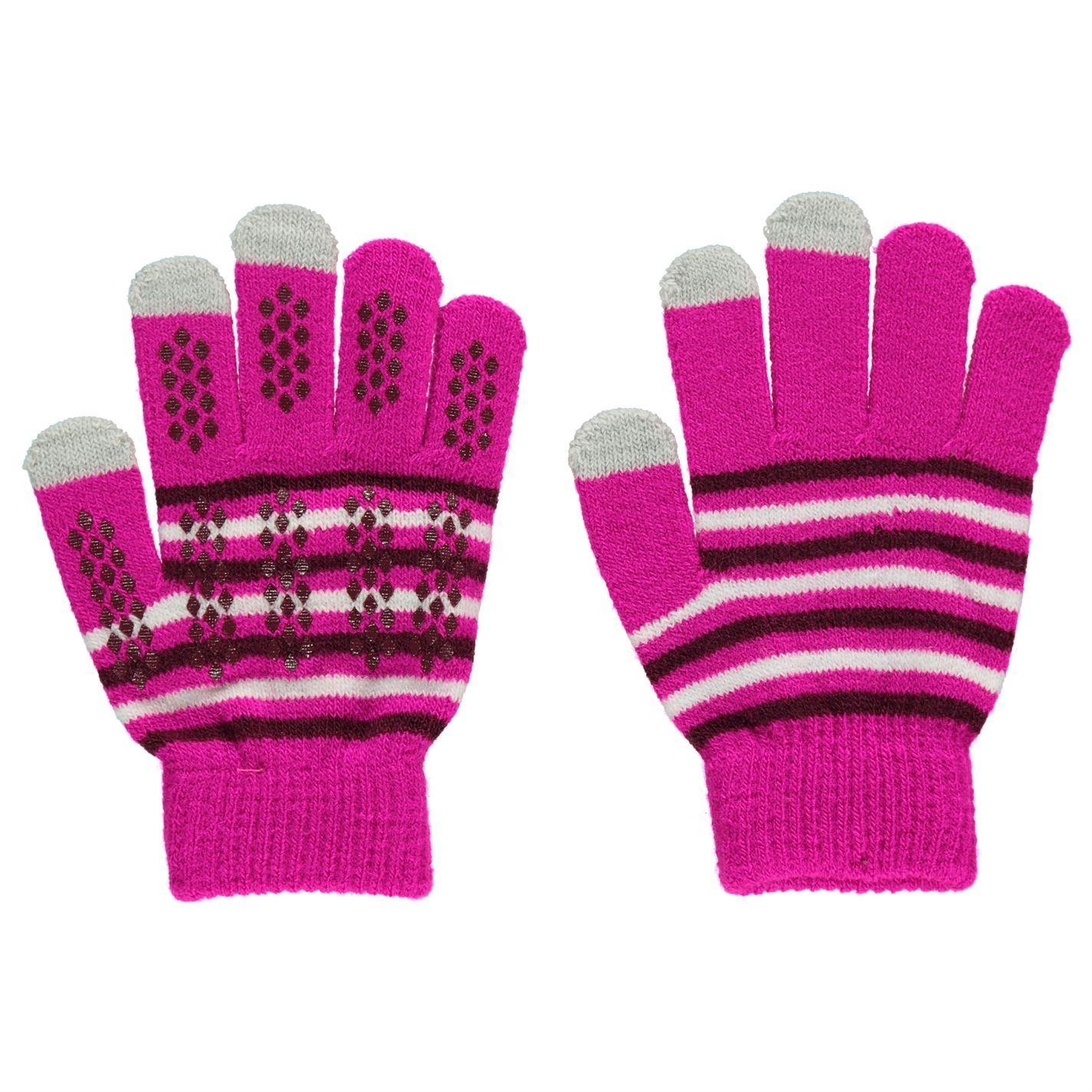 Gelert-Kids-Magic-Gloves-Juniors-Walking-Pattern-Winter-Stretch-Print-Stretchy