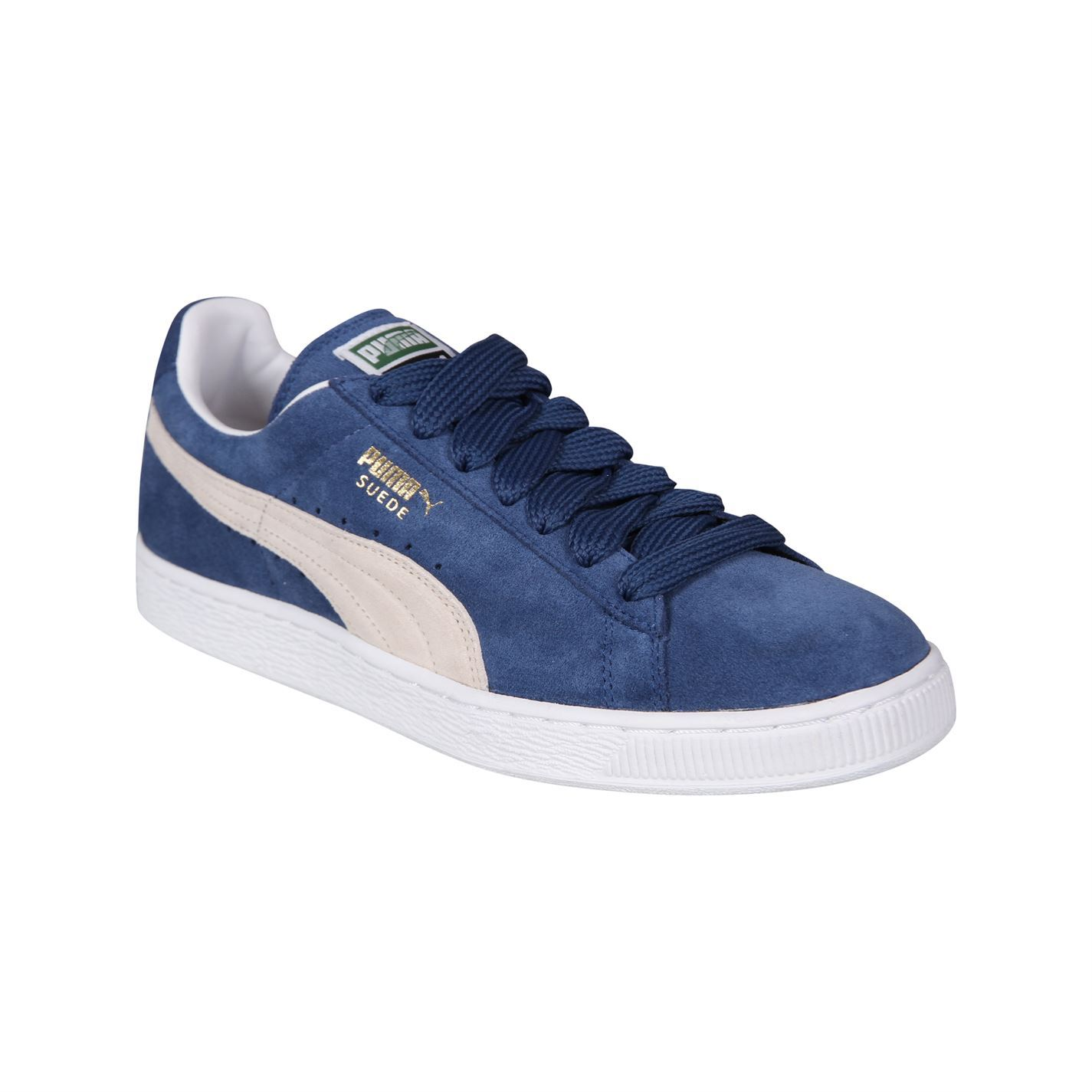 Uomo Puma Suede Classic Plus Trainers New Padded Ankle Collar Retro New Trainers 13737e