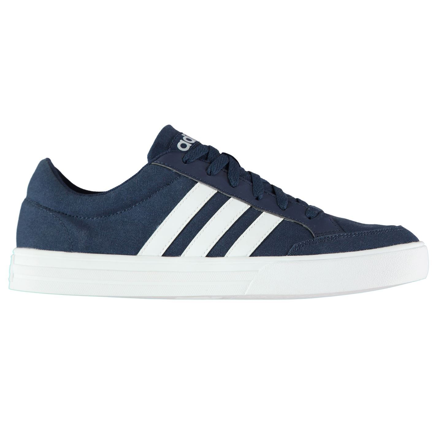 adidas mens vs set canvas trainers lace up shoes tonal
