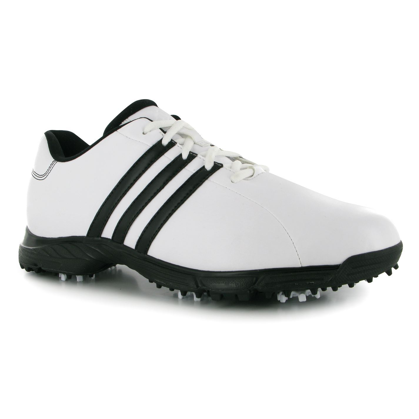 low priced 45392 73f3a Adidas Mens Golflite Golf Shoes Lightweight EVA Insole Thintech Traxion  adiWear