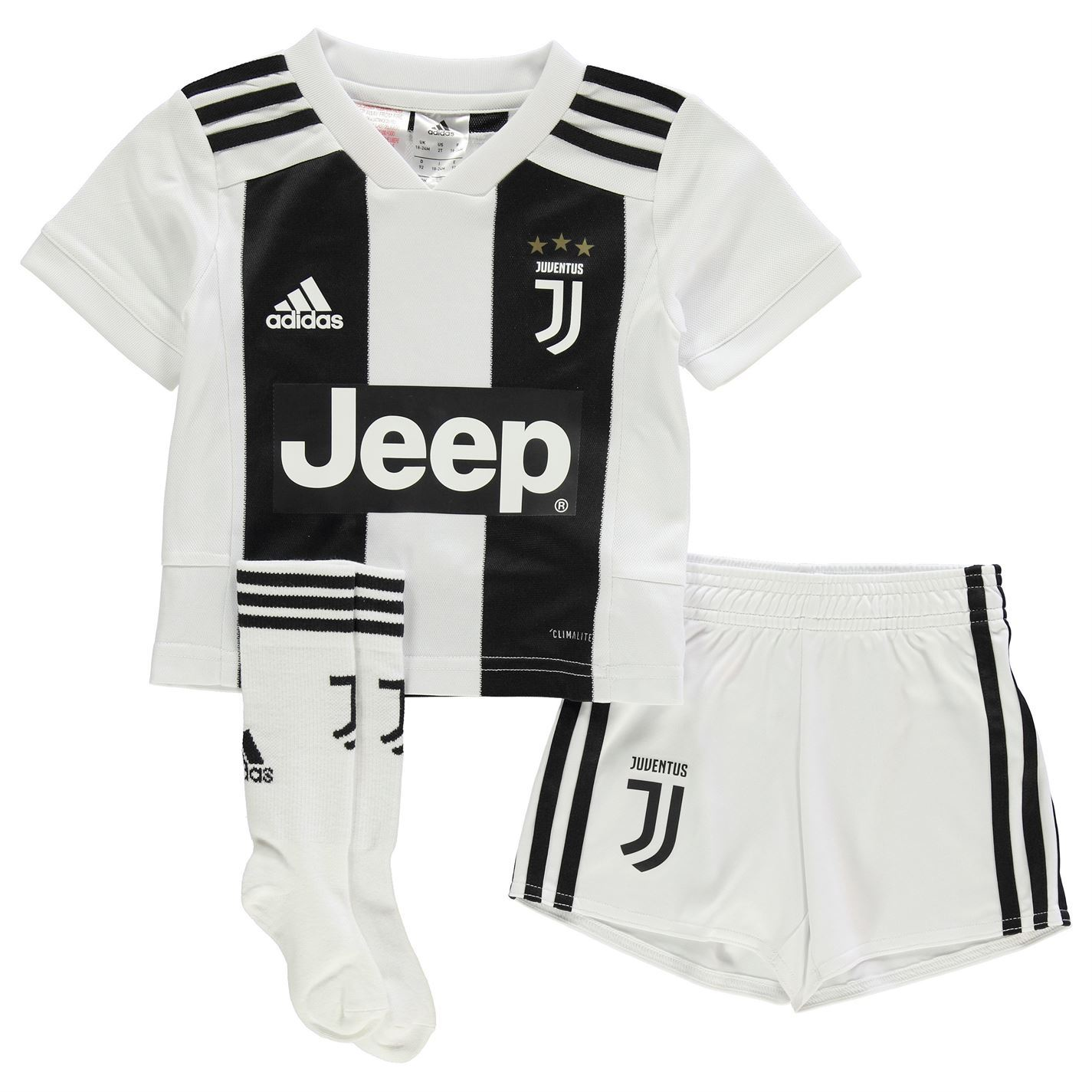 39749f4bd2a2 adidas Kids Boys Juventus Home Mini Kit 2018 2019 Domestic Minikits  ClimaLite