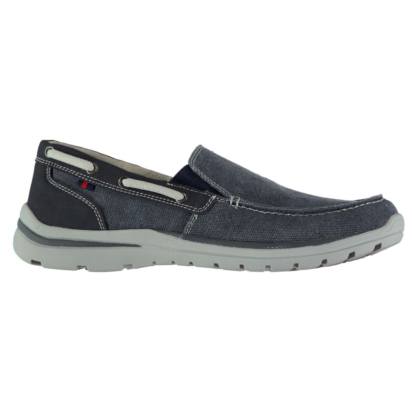 Kangol Mens Gents Brabo Slip On Canvas Boat Shoes Footwear Casual