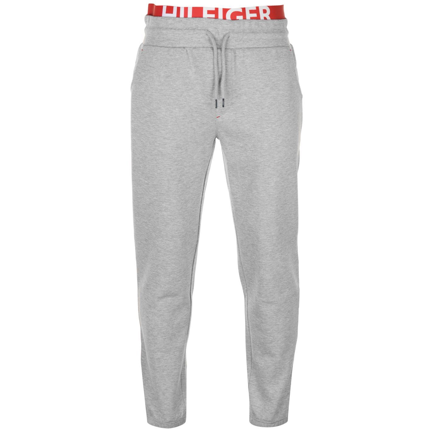 63fcf2278f Details about Mens Tommy Jeans Cuffed Jersey Pants Fleece Jogging Bottoms  Colour Block New