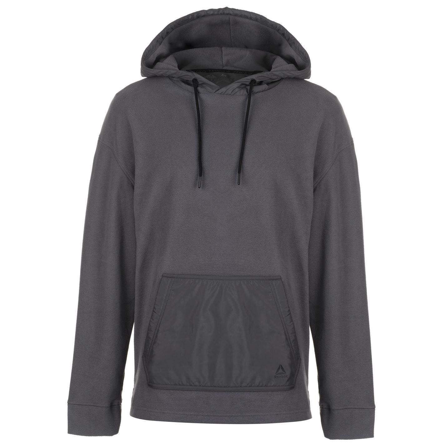 Reebok Micro Fleece Hoodie  Herren Gents Performance Hoody Hooded Top Full Length