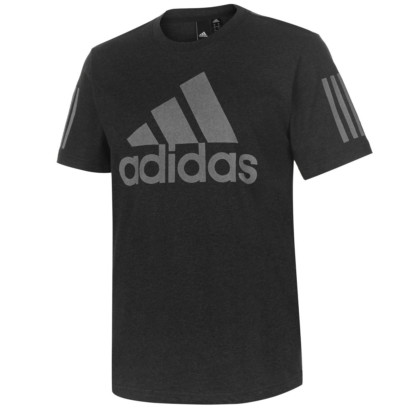 827ea228c177 adidas Mens SID Logo T Shirt Short Sleeve Performance Tee Top Crew ...