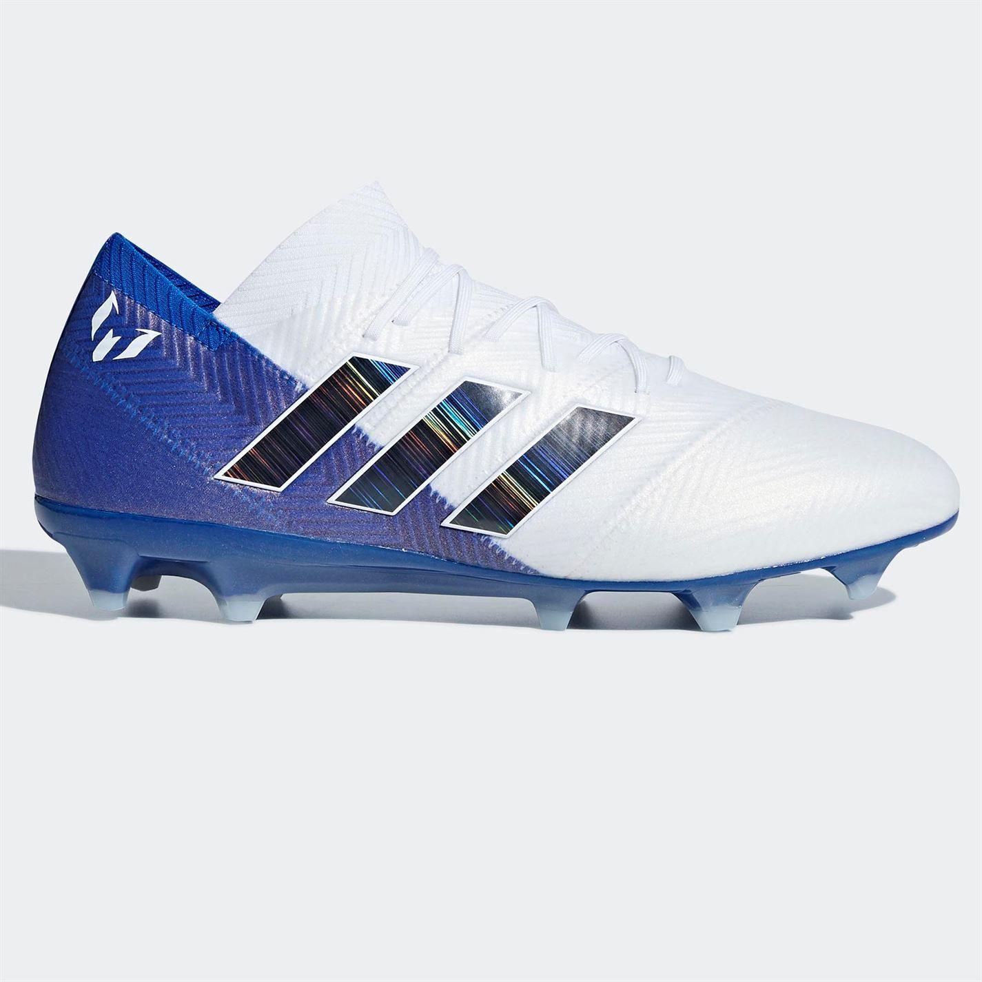 Adidas para hombre nemeziz Messi 18.1 FG Botas De Fútbol Terreno Terreno Fútbol Firme Con Cordones Ligero 31ab05