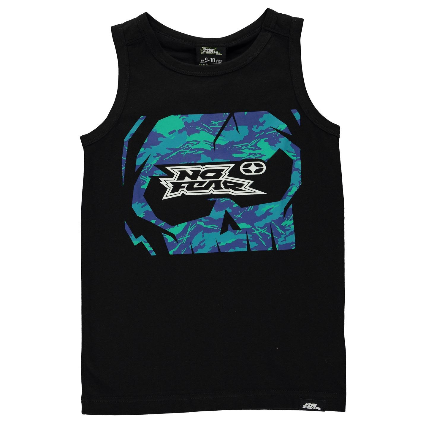 No Fear Kids Graphic Vest Junior Tank Top Crew Neck Cotton Print