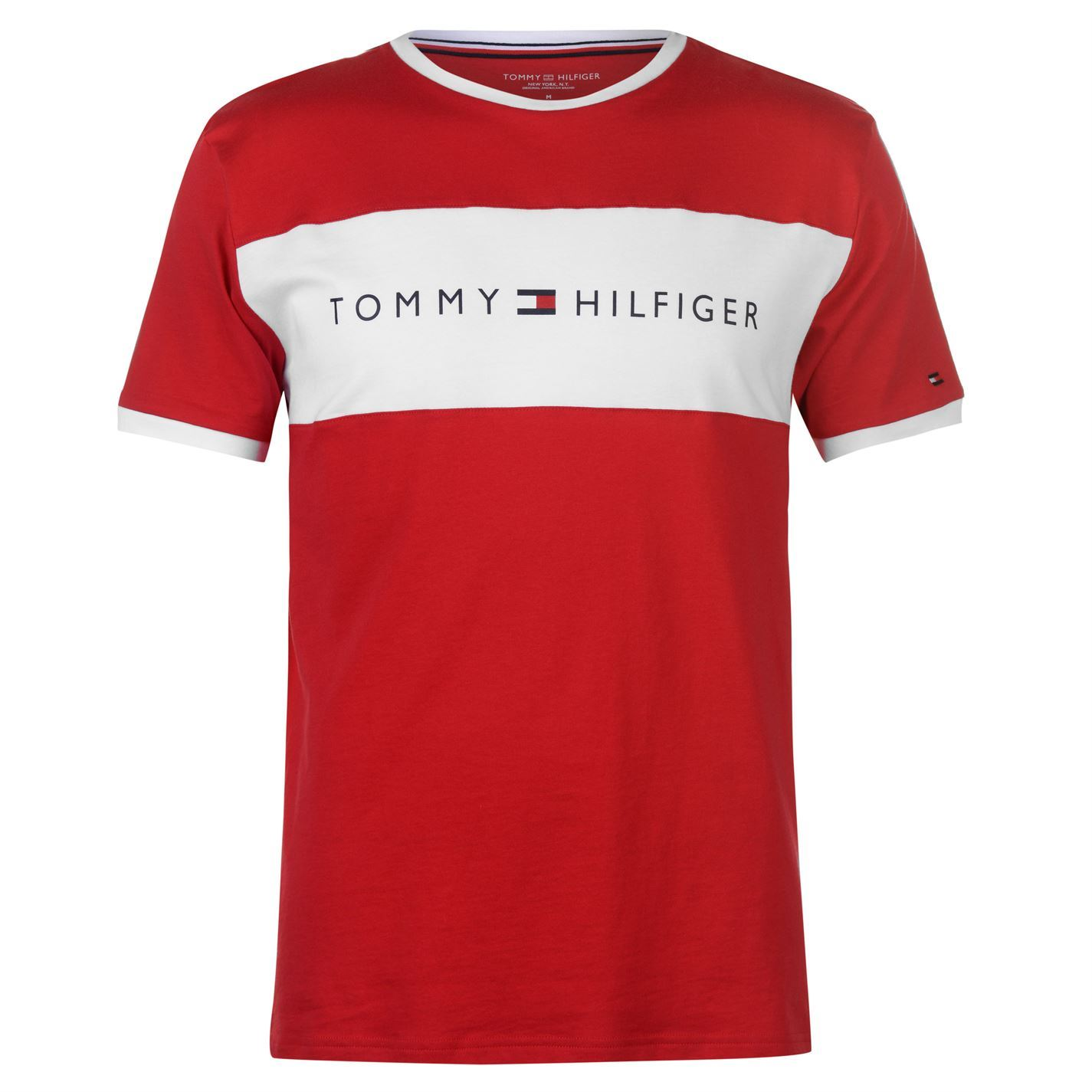 29a433ff331f4 Details about Mens Tommy Hilfiger Chest Logo Short Sleeve T Shirt Crew Neck  New