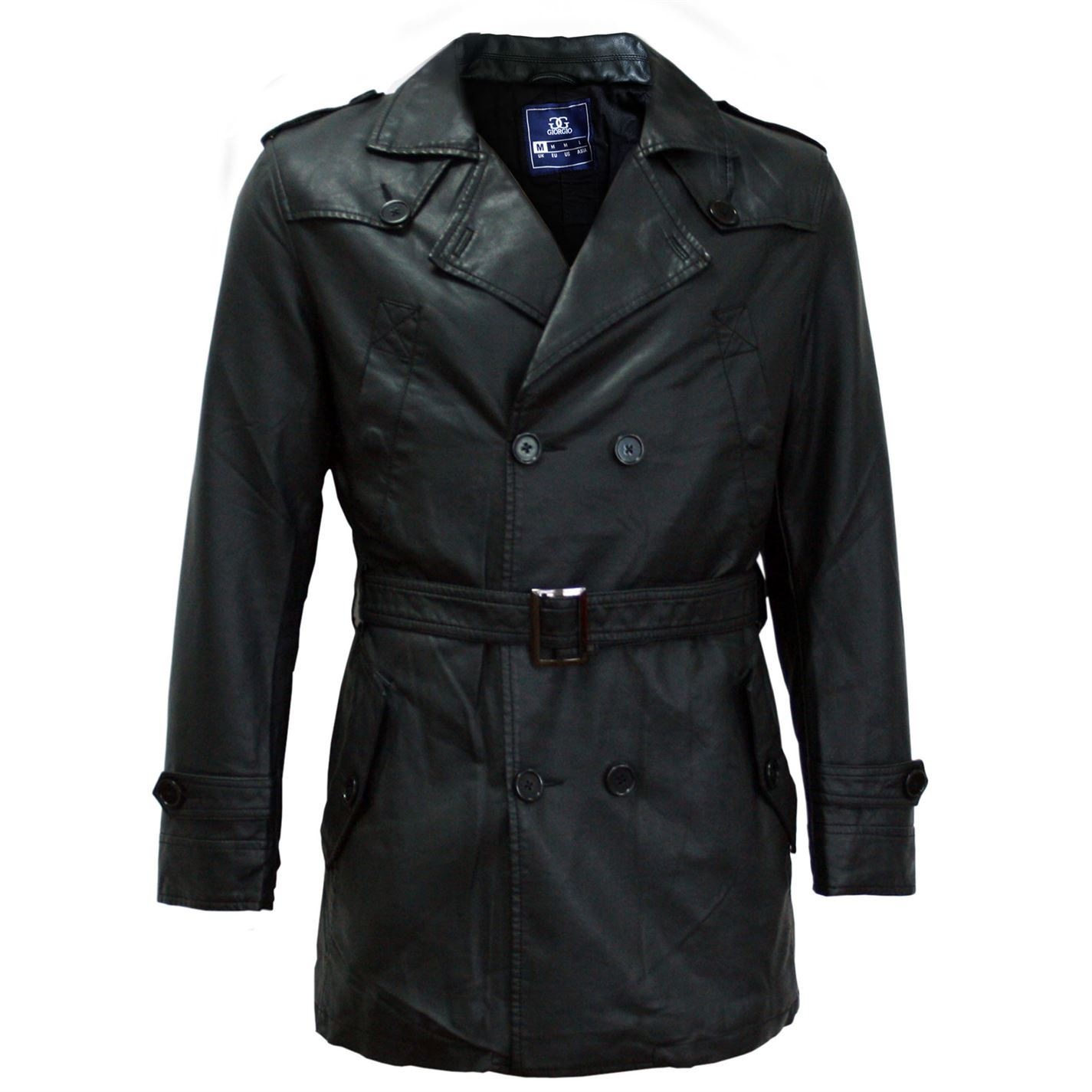 893cf2bf2c Details about Giorgio Mens Trench Coat Mac Top Jacket Press Stud Fastening  Epaulette