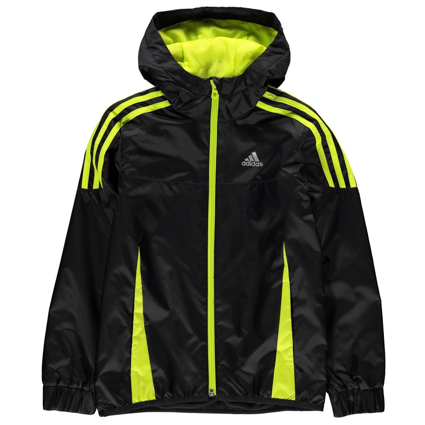 ea3eb373c adidas Kids Boys Mid Season Jacket Junior Padded Coat Top Long ...