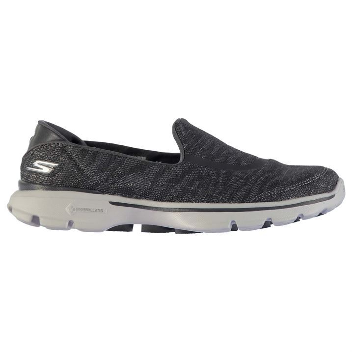 Skechers Womens Go Walk 3 ZB Trainers Shock Shoes Absorbing Slip On Breathable Shoes Shock 4b8160