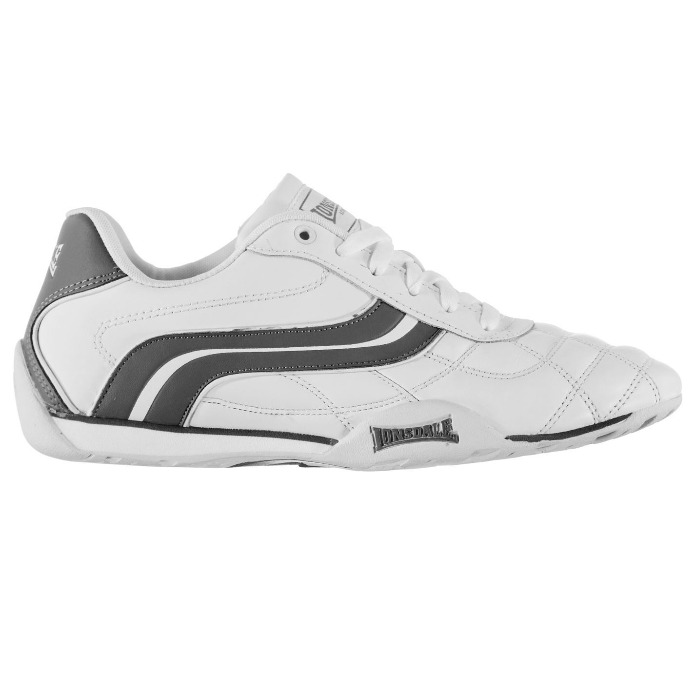 Lonsdale Mens Camden Trainers Lace Up Casual Sports Shoes Footwear
