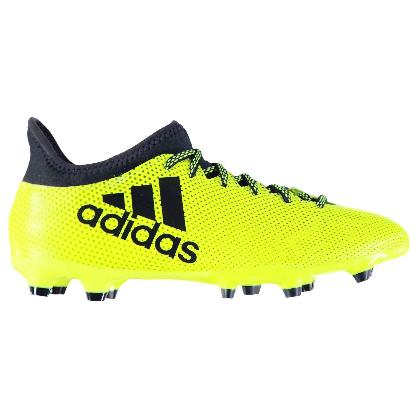 Adidas Para Hombre X 17.3 terreno FG Botas de fútbol terreno 17.3 firme con Cordones Tejido de punto 49fe89