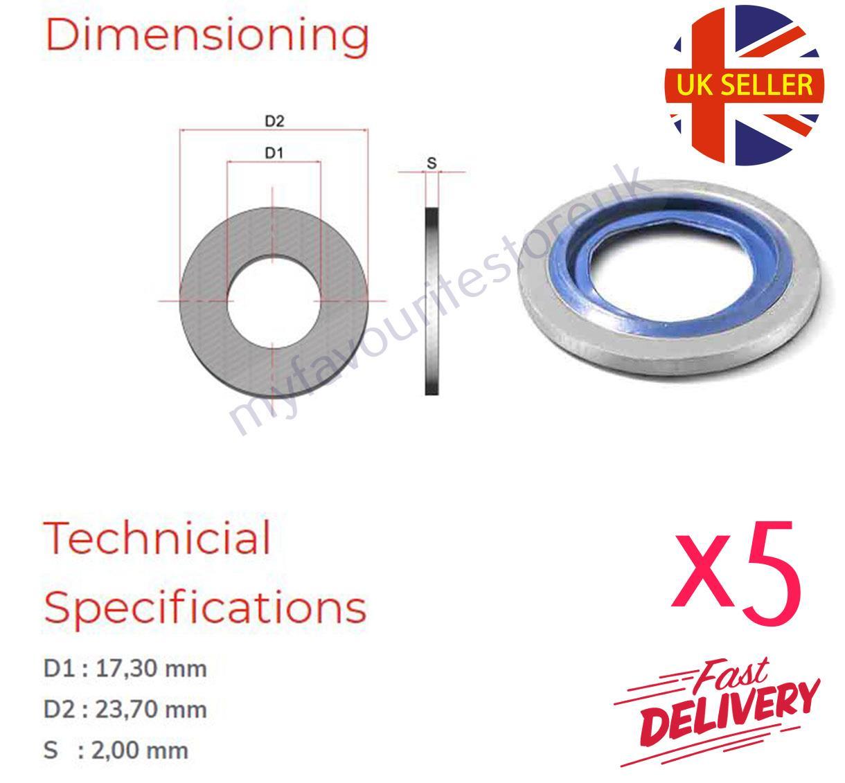 "20 x 3//8/"" BSP Bonded Seal Sealing O-Ring Washers Gasket Pneumatic /& Hydraulic"
