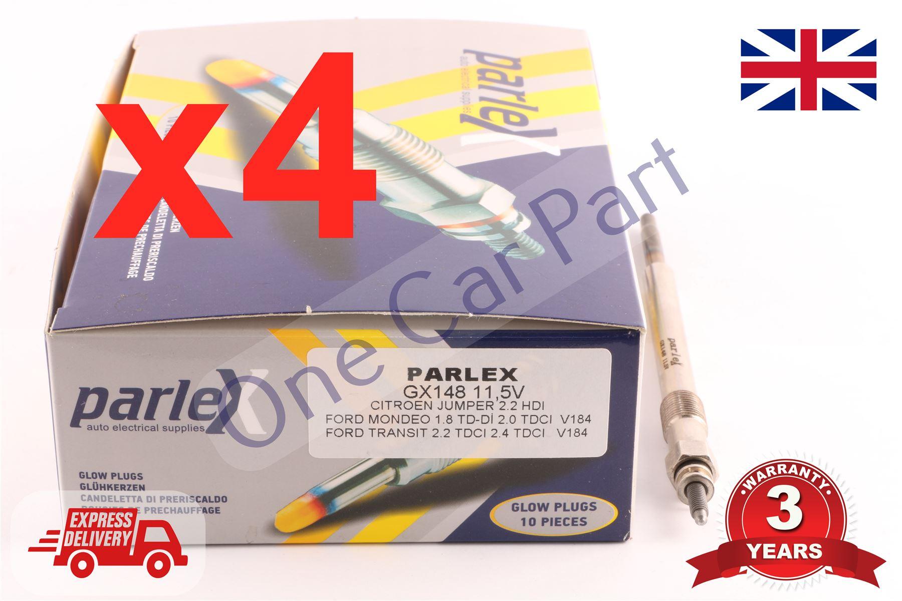 4 Glühkerzen BOSCH 2.0 2.2 HDI TDCI Ford Mondeo III Transit Citroen Jumper Boxer