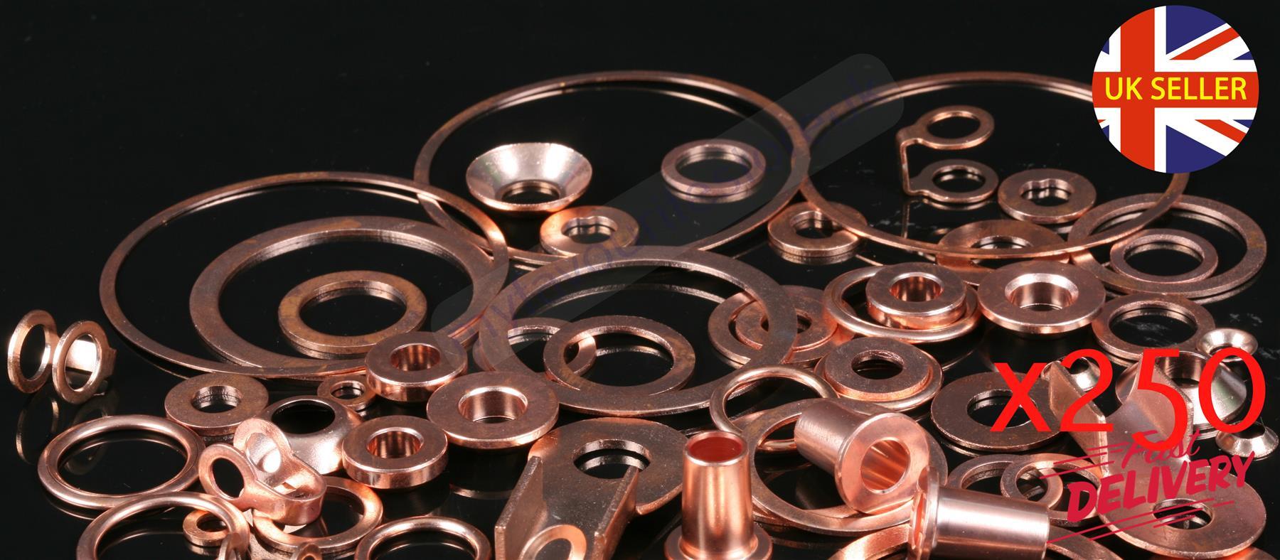 "1 x 1/"" Copper UNF Washer Crush Sealing Flat Ring Car DIY Gasket Plumbing"