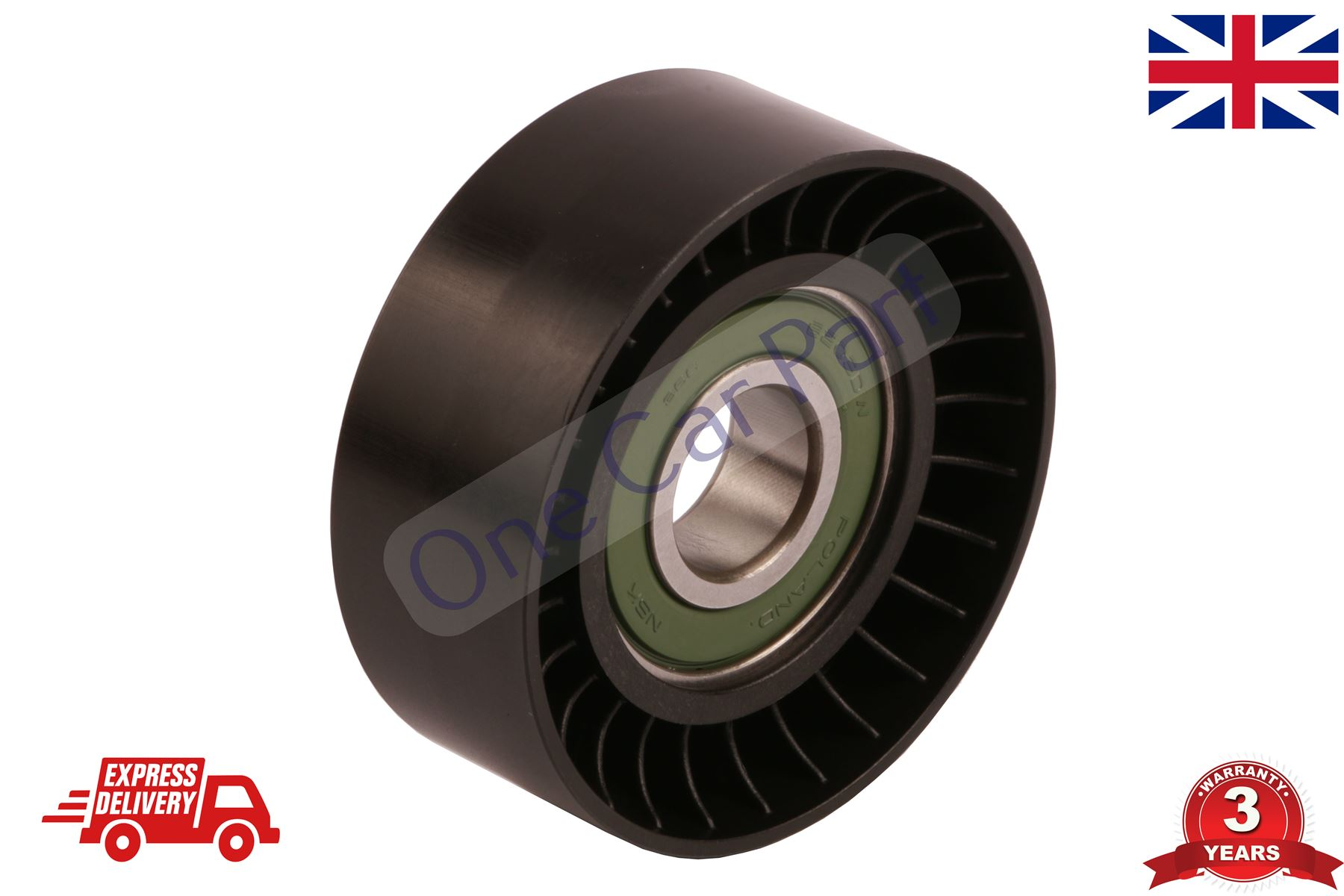 Ribbed Belt Idler V FORD FIESTA FUSION C-MAX Fan Belt Tensioner Pulley
