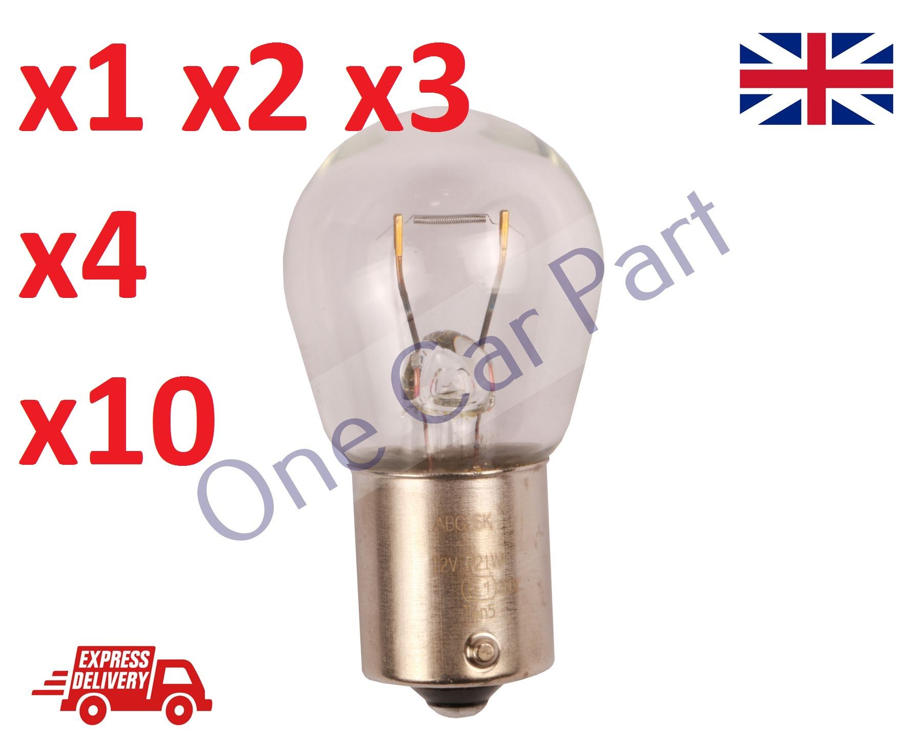 10 x 382 12V P21W Car Stop Tail Rear Reverse Fog Light Indicator Bulbs BA15S NEW