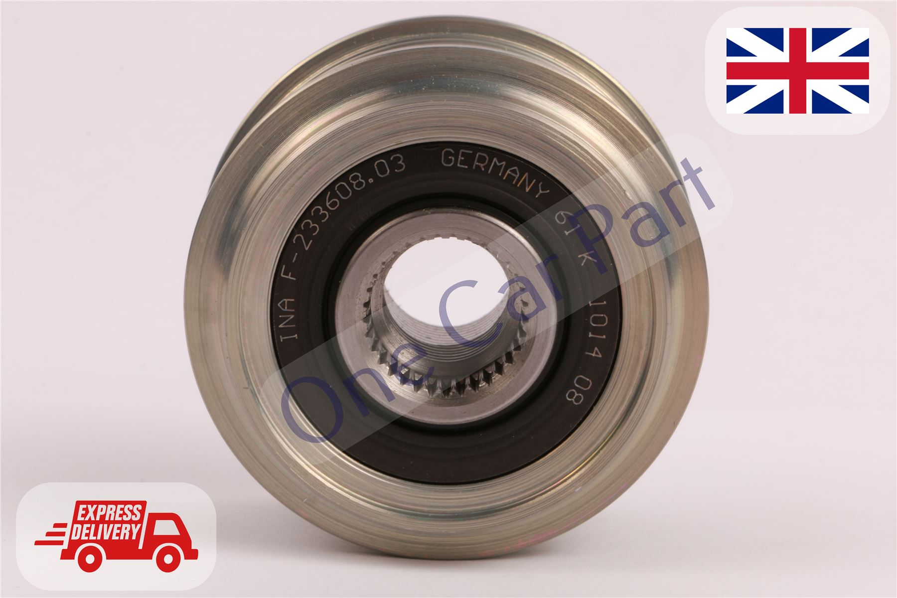 FORD TRANSIT 2.2D Overrunning Alternator Pulley 2006 on Clutch INA 1404791 New