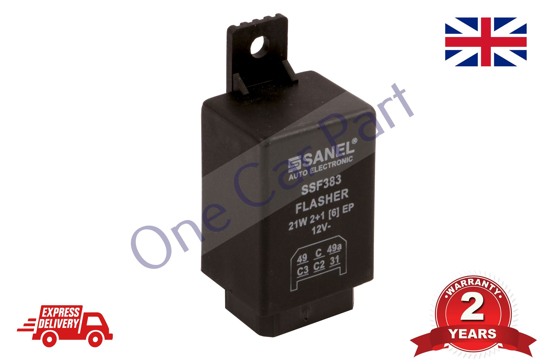 12v 6 Pin Flasher Indicator Relay Unit New Holland Ford Tractor Oe Vintage Lawn Wiring Diagram Quality