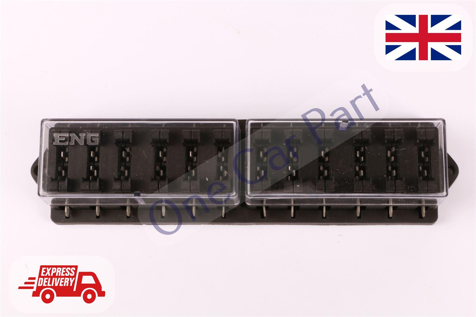 Universal Car Truck Boat 12 Way Standard Ato Blade Block Fuse Box Holder Circuit