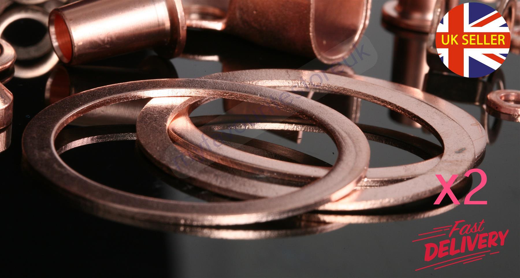 "Car 5 x 1//2/"" BSP Copper Solid Sealing Washers Motorbike DIY Industrial"