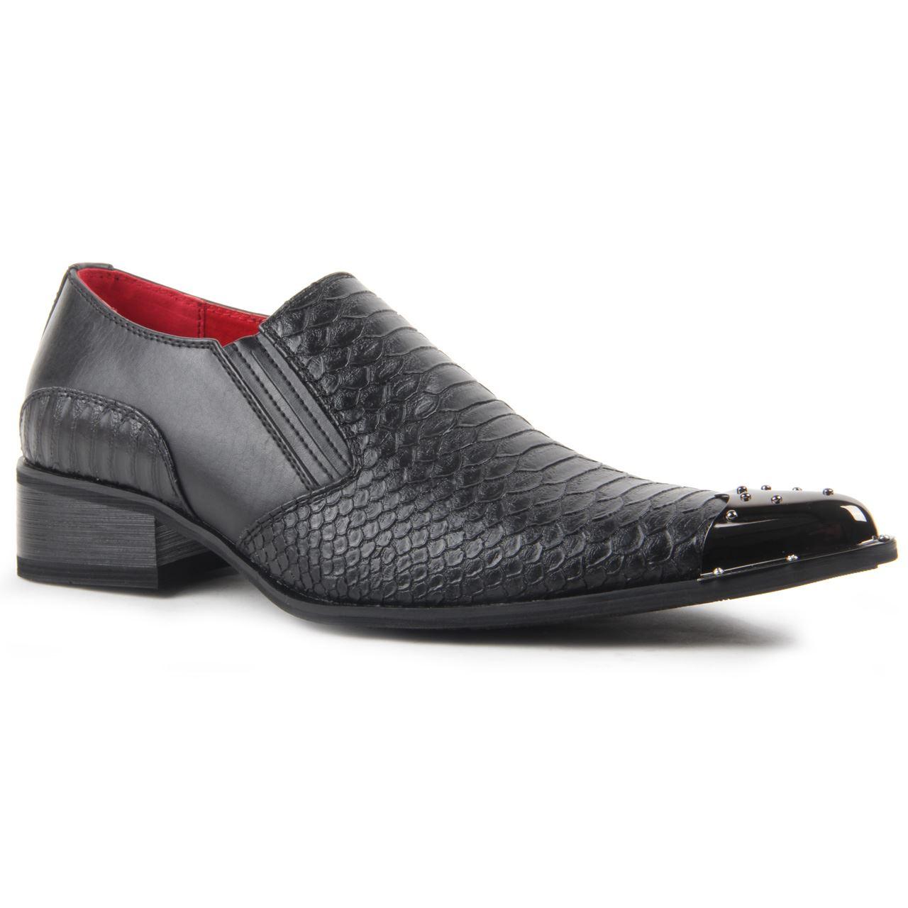 Croc Skin Dress Shoes