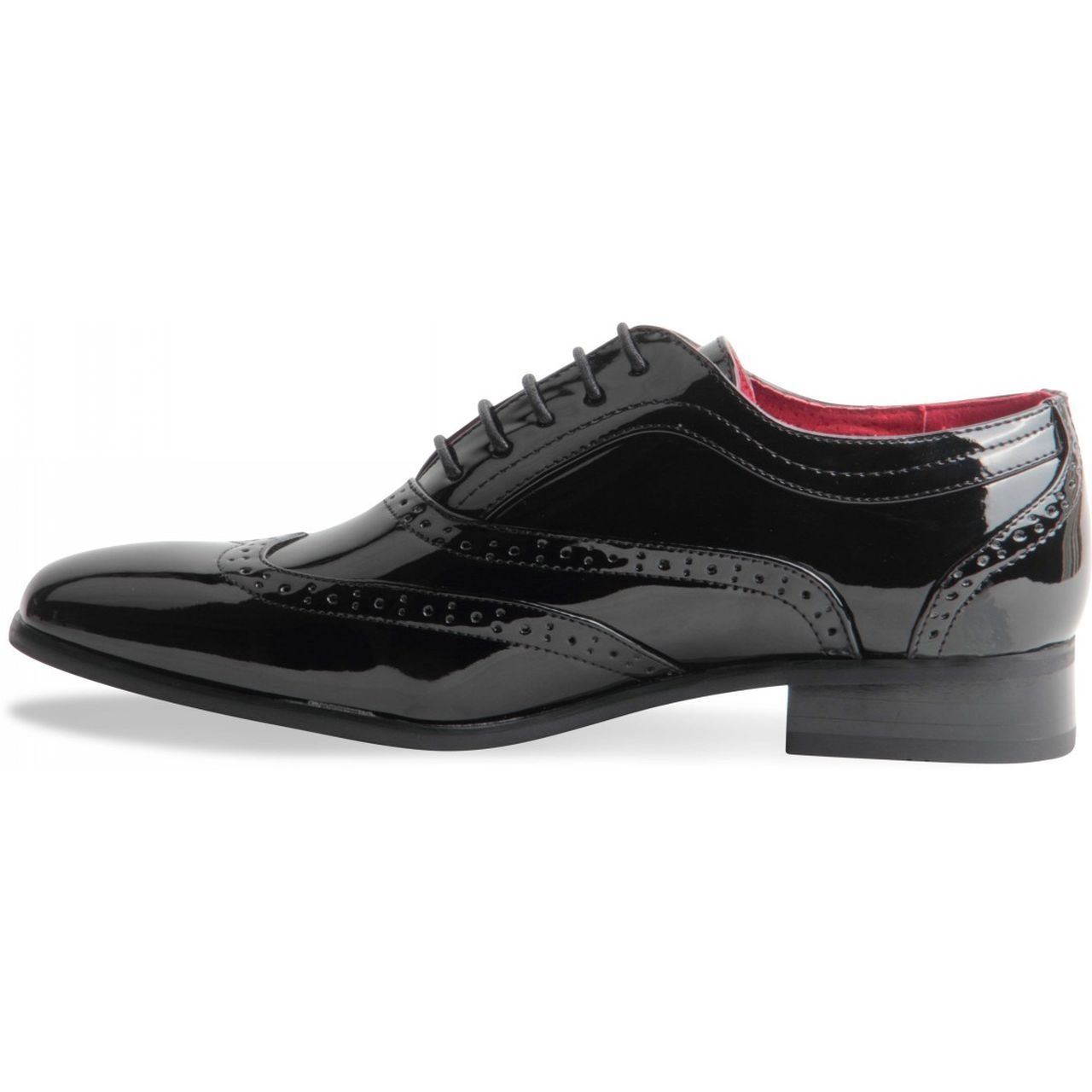 Black White Wingtip Gangster Shoes