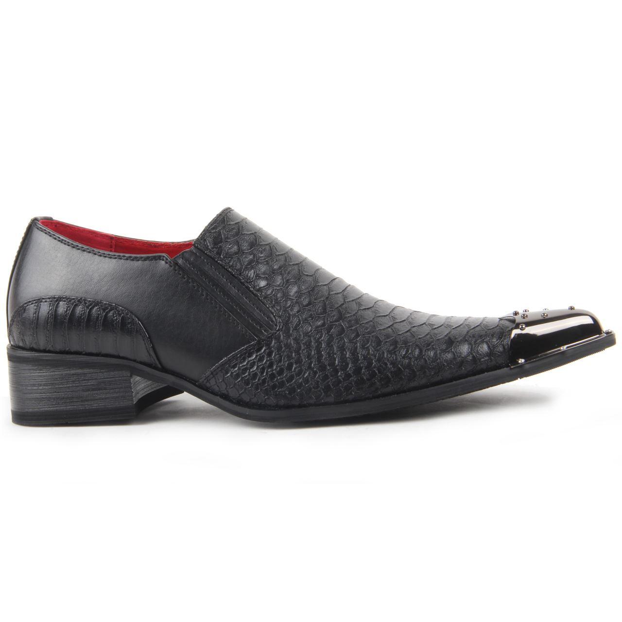 Croc Skin Mens Shoes