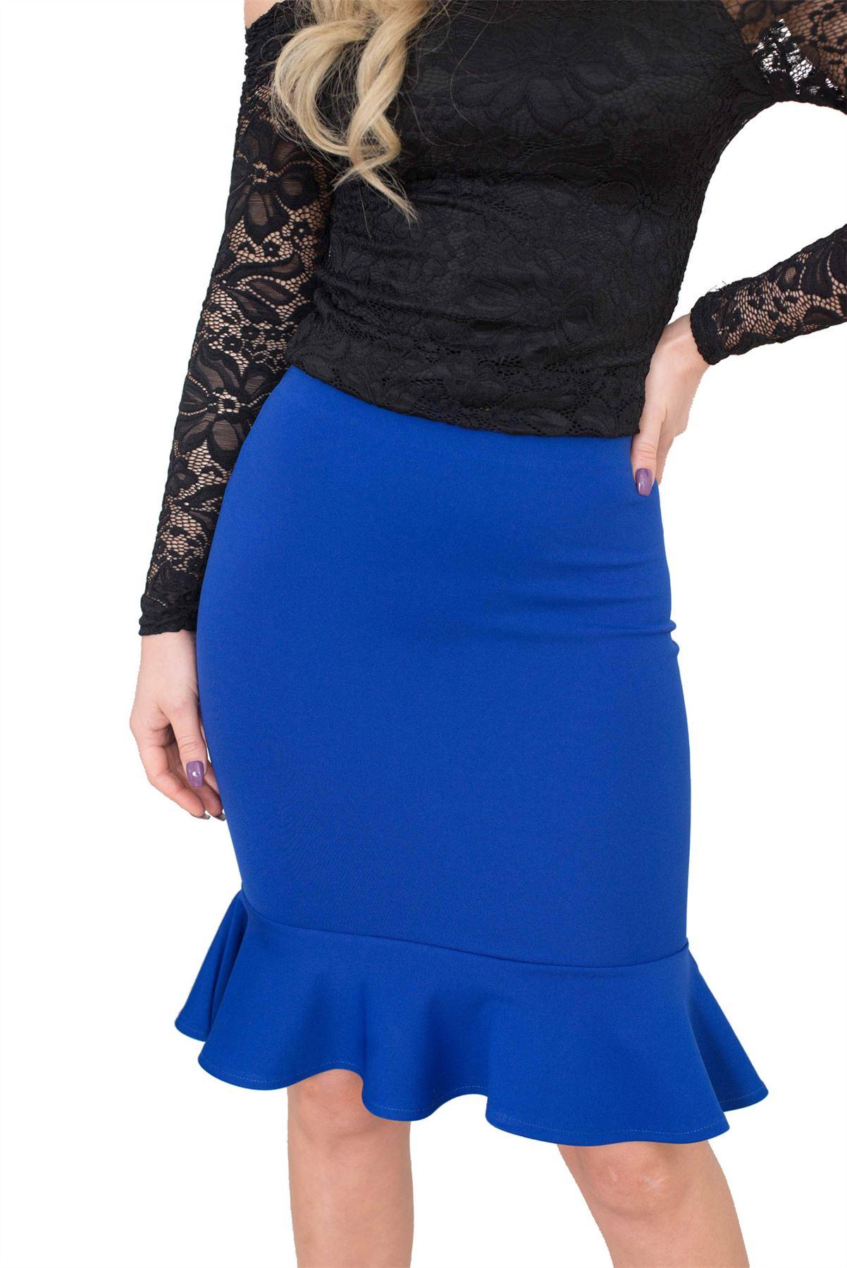 Jolie Max Women Fishtail Pencil Skirt Midi Stretch Bodycon Size8 16 Clothing Georgia Mini Dress