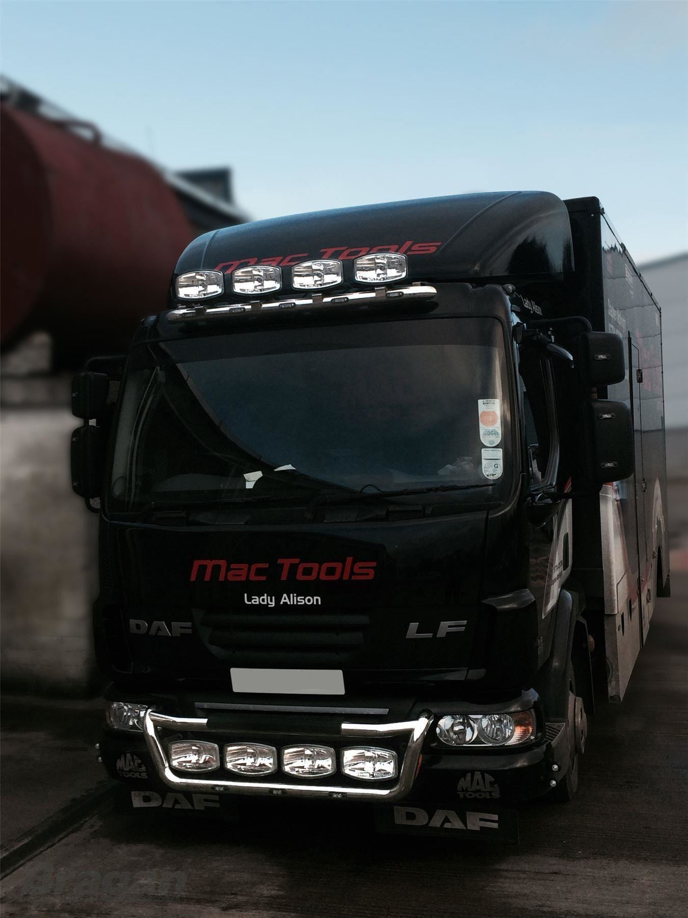 To Fit Pre 14 Daf Lf Stainless Steel Truck Roof Visor Spot