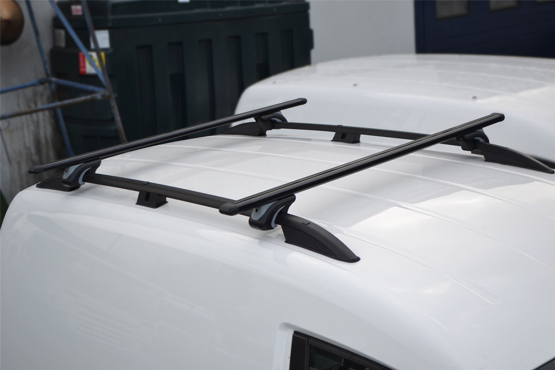 CROSS BARS FOR VW CADDY SWB 2010-ONWARDS LTS AUTO BLACK ROOF RAILS BARS RACKS