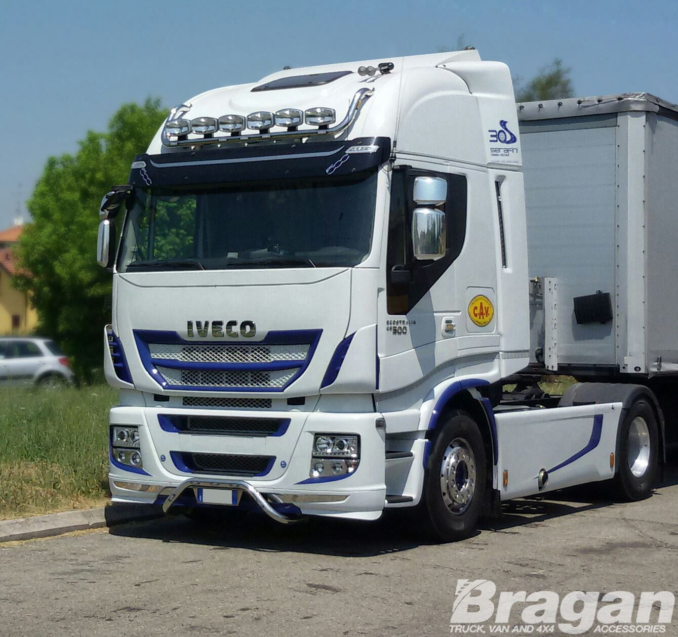 Iveco stralis active space time stainless steel front top roof light iveco stralis active space time stainless steel front aloadofball Images