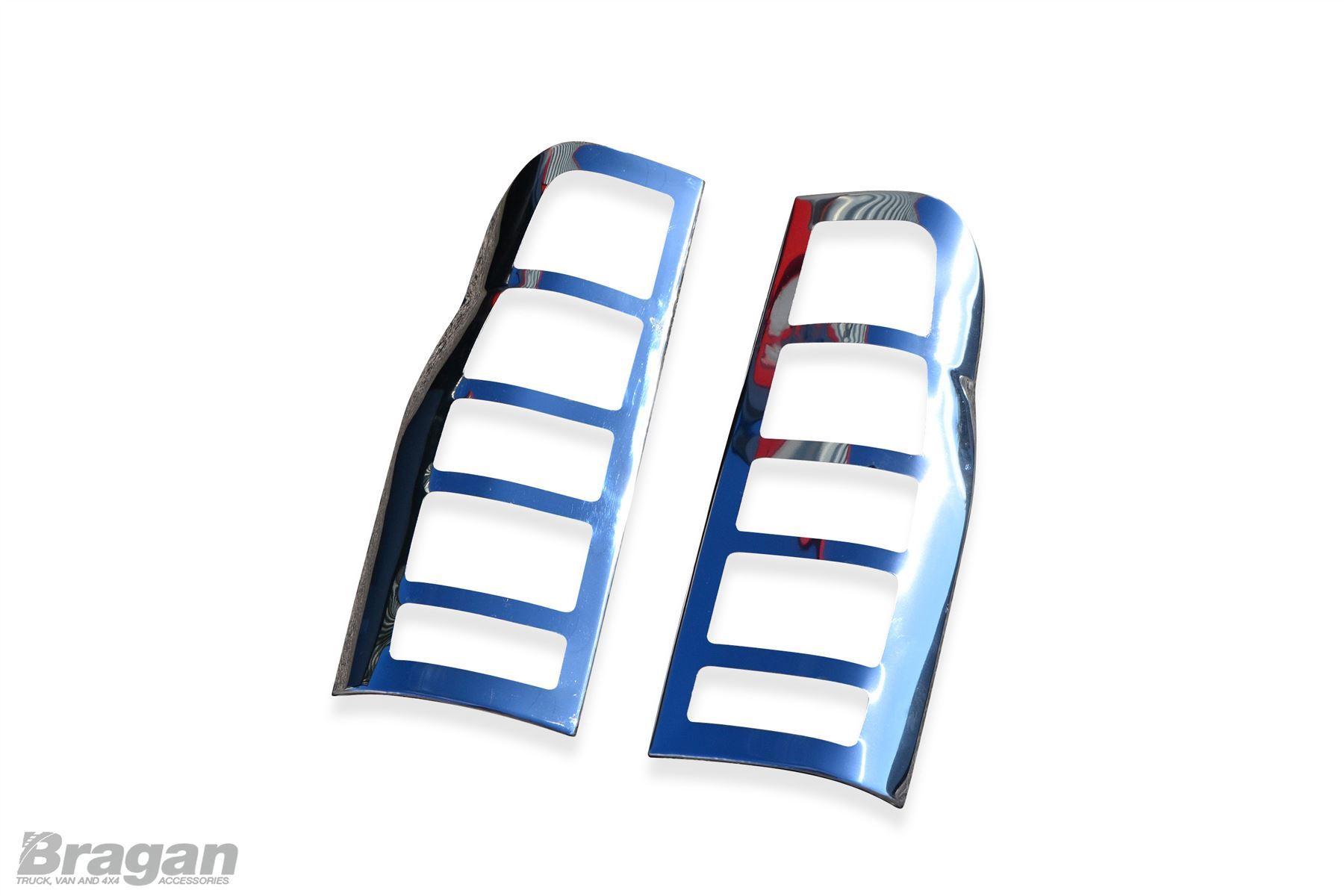 Ford Transit torneo Cromo Espejo Cubre Manija de la puerta de la luz trasera y 4 Conjunto de Ajuste