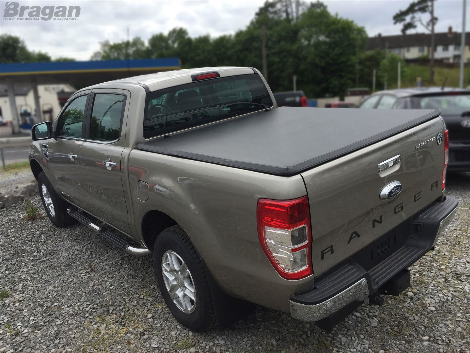 To Fit 2016 Ford Ranger Tri Folding Soft Tonneau Bed