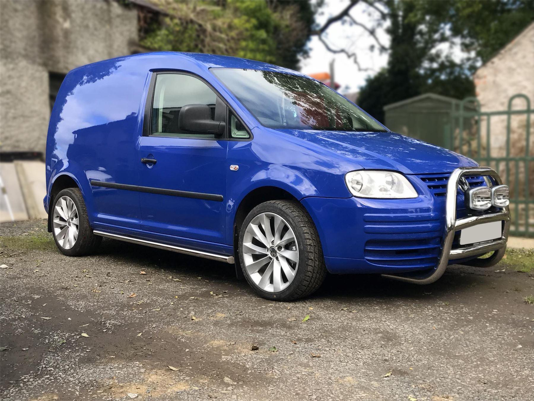 VW Volkswagen Caddy latérales polies en aluminium MARCHEPIEDS BARRES Pour s/'Adapter 2015