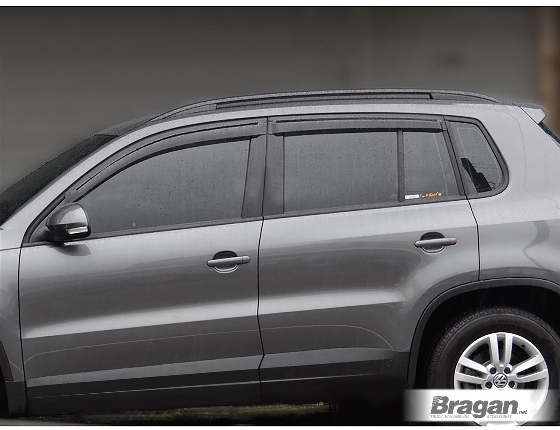 Bragan BRAH41078 SUV 4x4 Tinted Window Deflectors Fitting Kit Sun Rain Wind Protector Smoked Acrylic