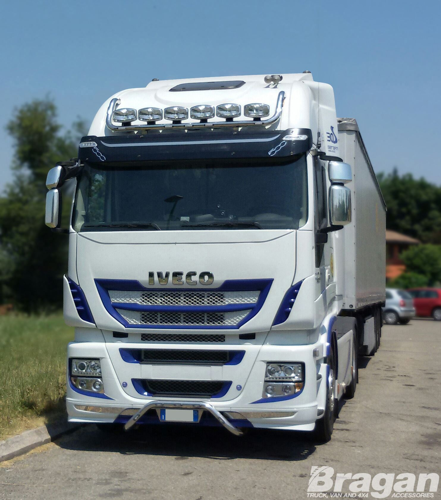 iveco stralis active space time stainless steel front top roof light bar picclick uk. Black Bedroom Furniture Sets. Home Design Ideas