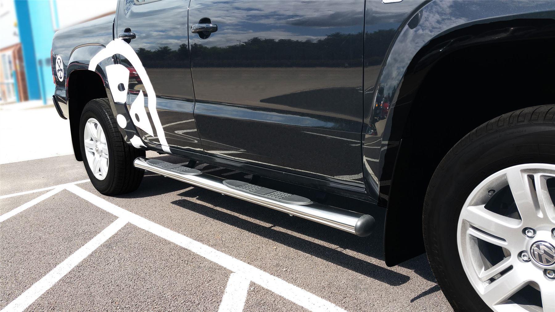 To Fit 2010 - 2016 Volkswagen VW Amarok Side Bars Steps ...